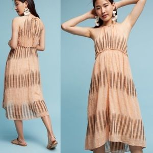 Anthropologie Akemi + Kin ikat halter dress